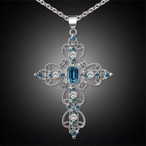 🙏🏻New🙏🏻 Blue Opal Cross Pendant Necklace🙏🏻
